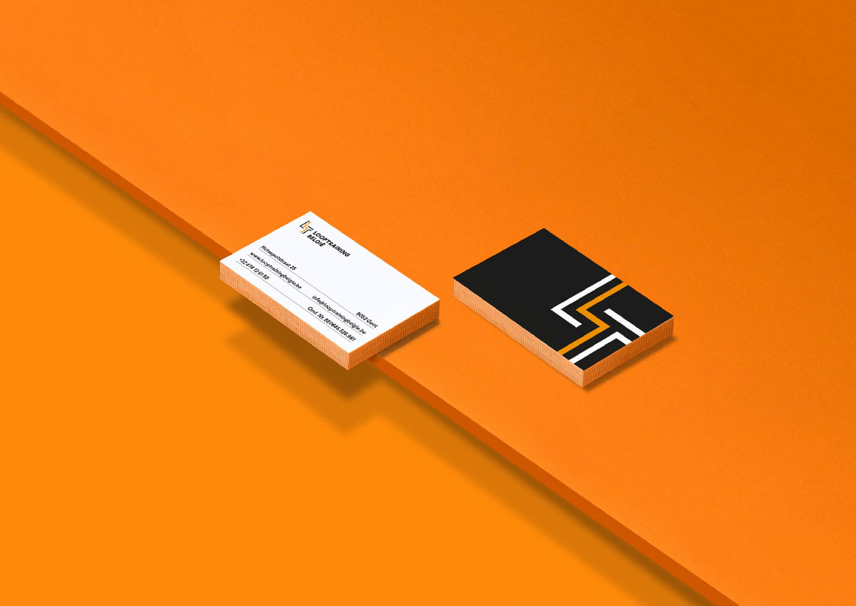 Looptraining - business cards