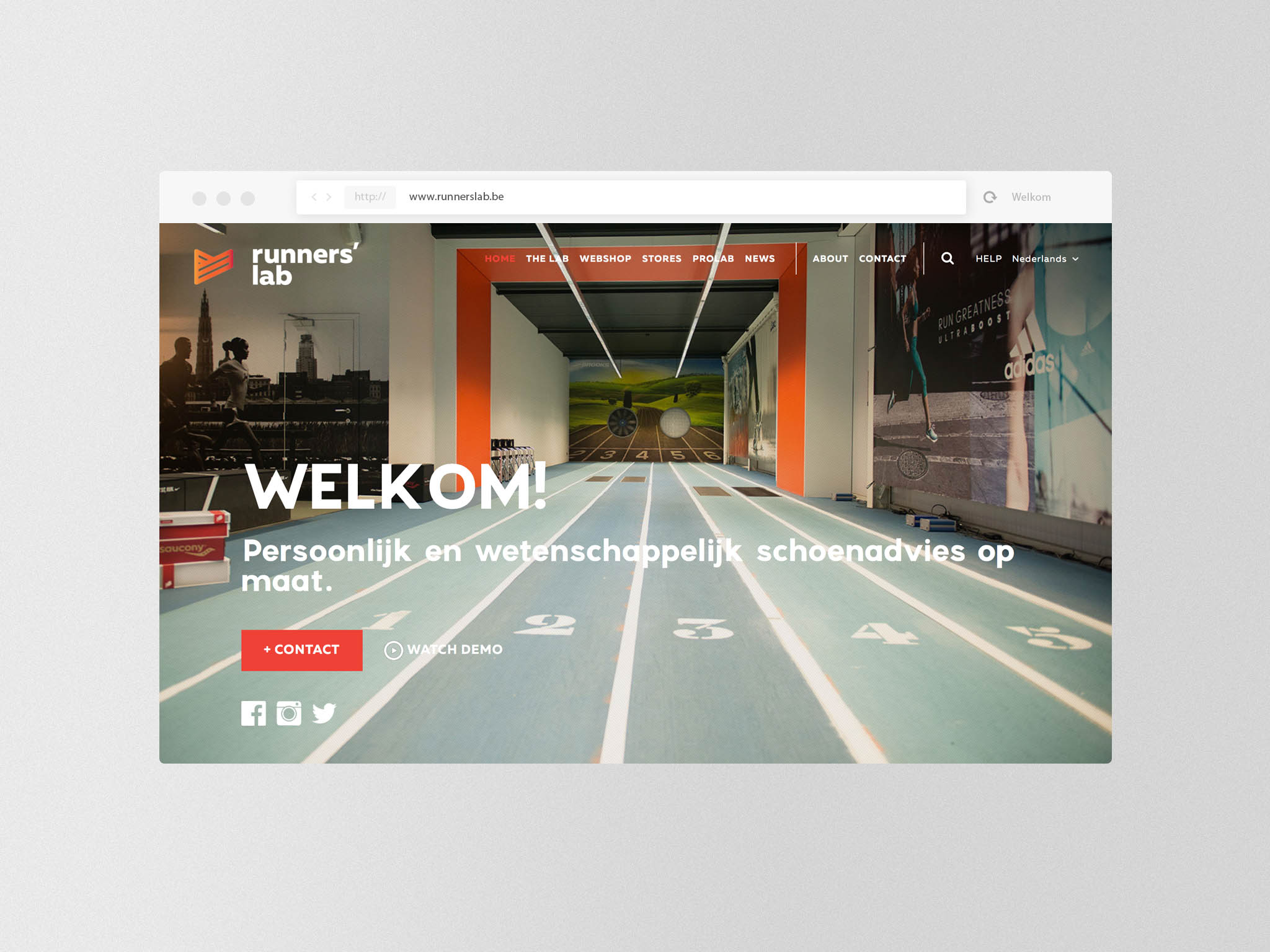 runners' lab website design en ontwikkeling