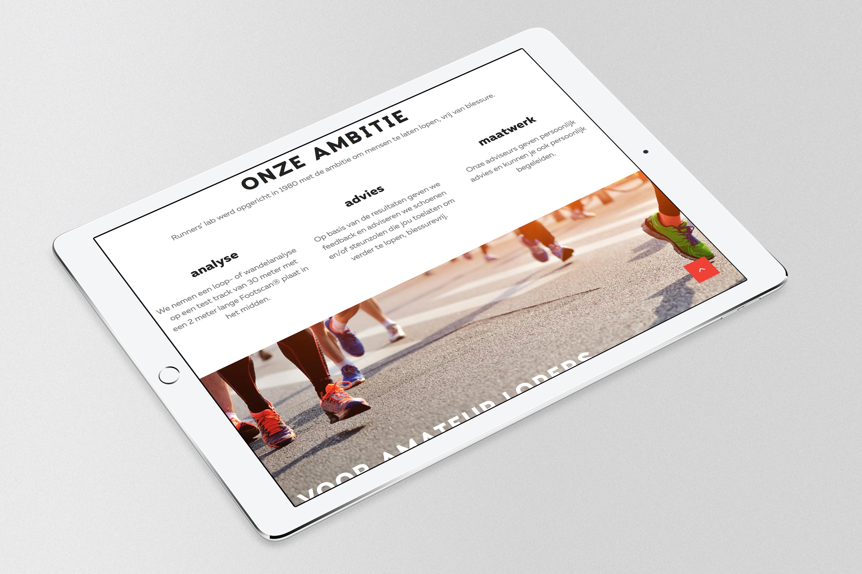runners' lab responsive design